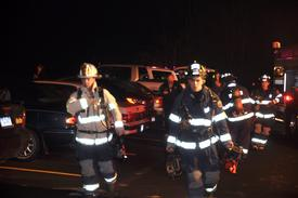 Rapid Intervention Crew response with Webster Fire Department to a working fire on Deerhurst Lane. February 2012