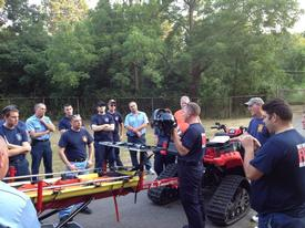 ATV 1277 Training at the well fields on Dewitt Road. July 2012