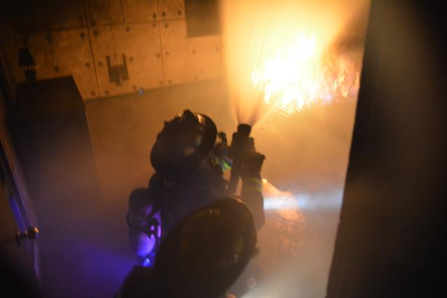 Live fire training at the Monroe County Public Safety Training Facility. August 2013