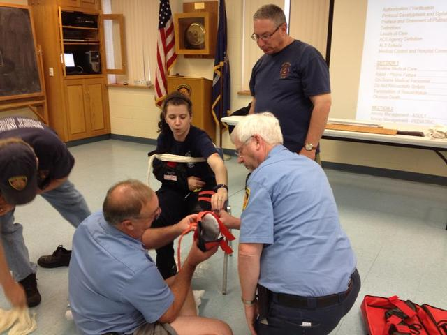 EMS Immobilization drill At Station 1. June 2013