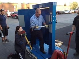Forcible Entry simulator training At Station 1. June 2013