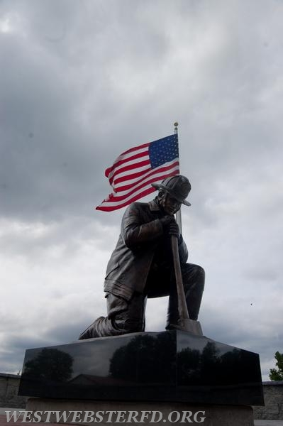 View of the Statue and flag
