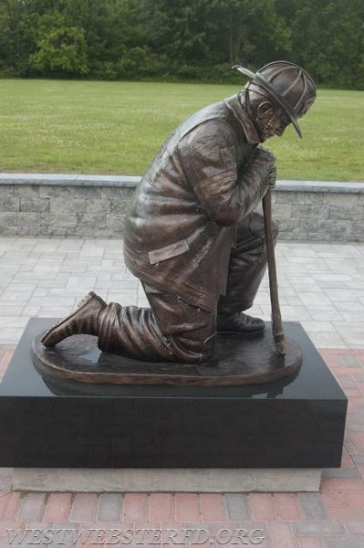 Side view of the Firefighter Statue