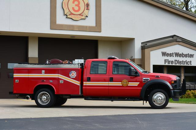 Grass fire 1237 at its new home at Station 3 on Plank Rd