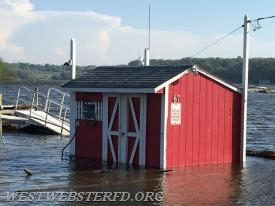 West Webster Shed on Lake Rd where we dock Marine 1216 during the boating season